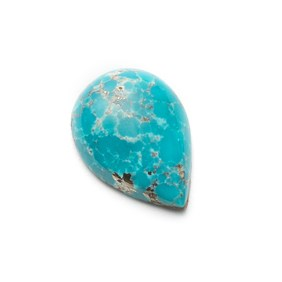 Untreated Natural Persian Turquoise Teardrop Cabochon, Approx 14x10mm