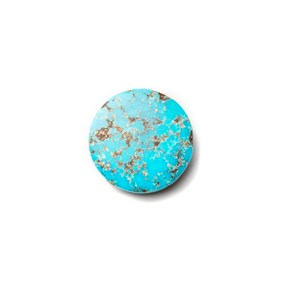 Untreated Natural Persian Turquoise Round Cabochon, Approx 17.5mm