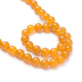 Yellow Agate Round Beads 8mm