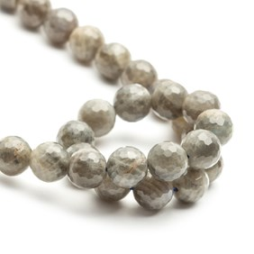 Labradorite Faceted Round Beads 10mm