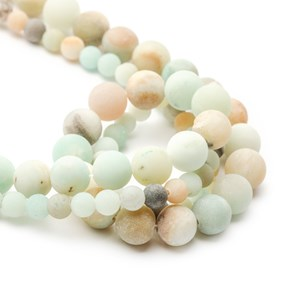 Multicolour Amazonite Frosted Round Beads