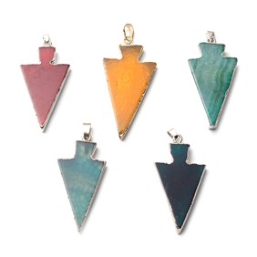 Ready To Wear Agate Arrow Pendants