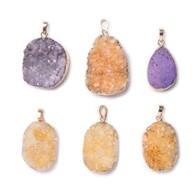 Ready To Wear Drusy Pendants