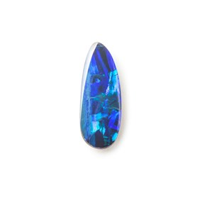 Australian Free-Form Opal Doublet, Approx 12.5x4.5mm