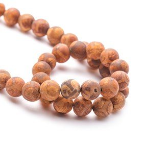 Tibetan Agate Round Beads, 8mm