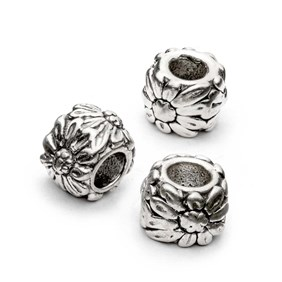 spacers page a beads sand of silver grain daisy metal white sterling