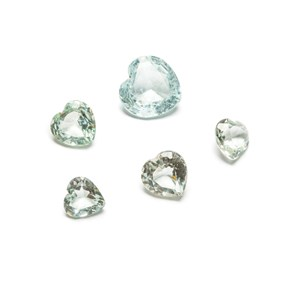 heart faceted stones
