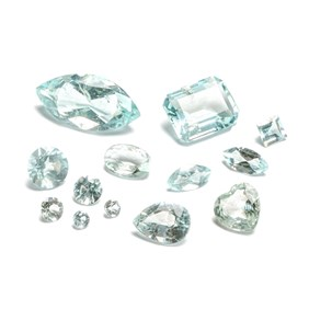 Aquamarine B Quality Faceted Stones