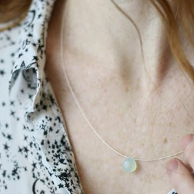 Chalcedony Briolette Necklace
