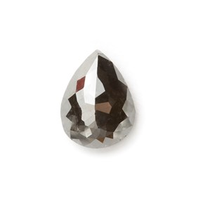 Black Diamond Rose Cut Teardrop Cabochon