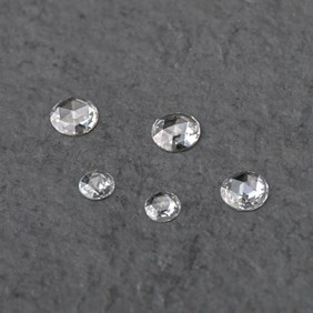 Diamond Rose Cut Cabochon, Approx 3-3.4mm Round