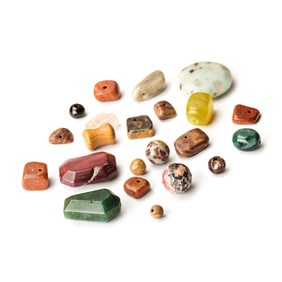 Mixed Jasper And Agate Bead Pack, 25g