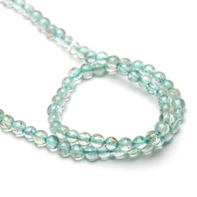 Aquamarine Round Beads, 3-5mm