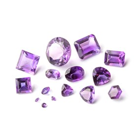 African Amethyst Faceted Stones