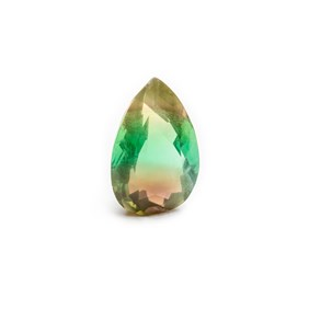 Multi-coloured Banded Fluorite 23x14mm Faceted Teardrop Stone
