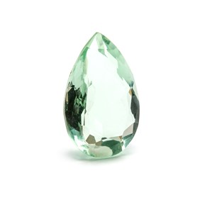 Green Flourite 23.5x15mm Faceted Teardrop Stone
