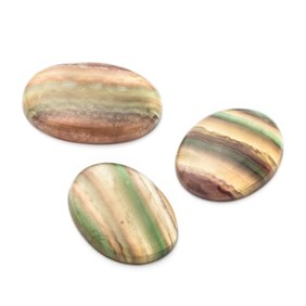 Multi-coloured Banded Fluorite Oval Cabochons