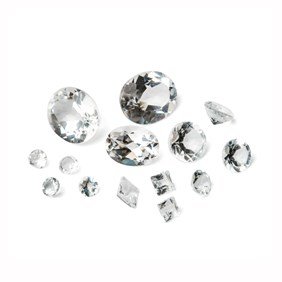 White Topaz Faceted Stones, 10x8mm Oval
