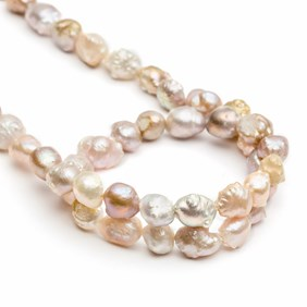 Cultured Freshwater Rustic Rosebud Semi Baroque Pearls