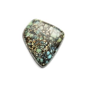 New Lander Turquoise Cabochon, Approx 18x17mm