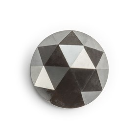 Black Diamond Rose Cut Cabochon, Approx 6.6mm