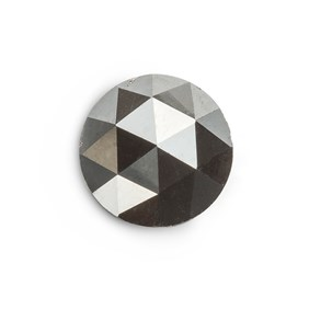Black Diamond Rose Cut Cabochon, Approx 5.8mm