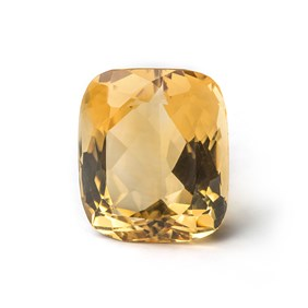Citrine 25x21.5mm Cushion Cut Faceted Stone