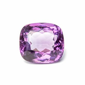 Amethyst 16.5x15mm Cushion Cut Faceted Stone