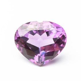 Amethyst 21x18mm Heart Shape Faceted Stone