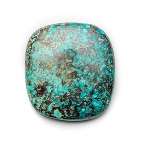 Chrysocolla Cushion Cut Cabochon, Approx 26x25mm