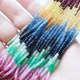 Explore Faceted Rondelle Beads