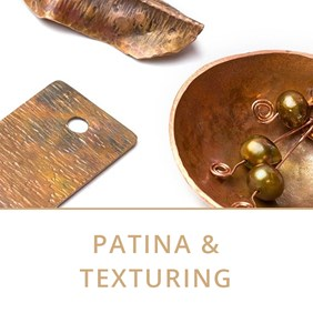 patina and texturing jewellery making tutorials