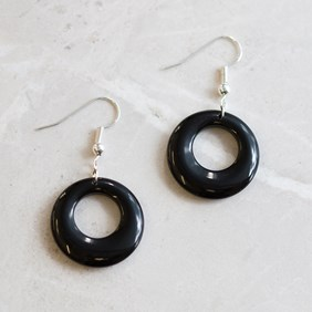 Black Onyx Agogo Earrings