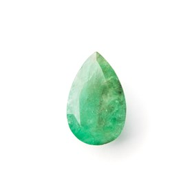 Emerald 17.5x11.5mm Teardrop Faceted Stone