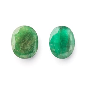 Emerald 12x10mm Oval Faceted Stone