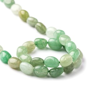 Green Aventurine Nugget Beads, Approx 8x6mm
