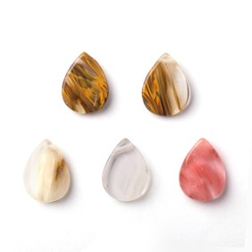 Cherry Quartz Head Drilled Flat Teardrop Beads