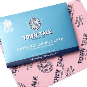 Town Talk Silver Polishing Cloth, Approx 17.5x12.5cm