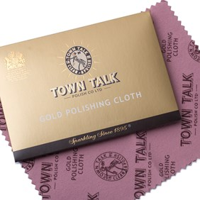 Town Talk Brilliant Gold Polishing Cloth, Approx 17.5x12.5cm