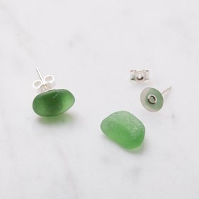 Sea Glass Ear Studs