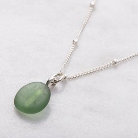 Sea Glass Satellite Necklace