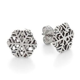 Sterling Silver Snowflake Earstuds