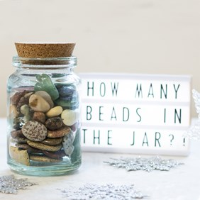 How Many Beads In The Jar Competition!