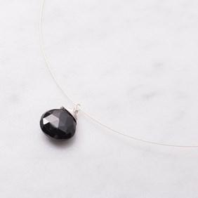 Black Spinel Briolette Necklace