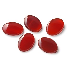 Carnelian Flat Plate Oval Cabochons, Approx 14x10mm