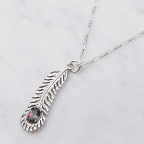 Mystic Fire Feather Necklace