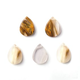 Cherry Quartz Head Drilled Flat Teardrop Beads