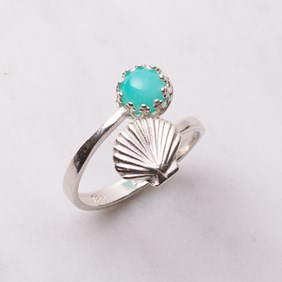 Amazonite Shell Ring