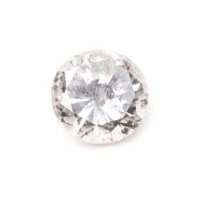 Salt And Pepper Diamond Faceted Stone Approx 5.3mm Round