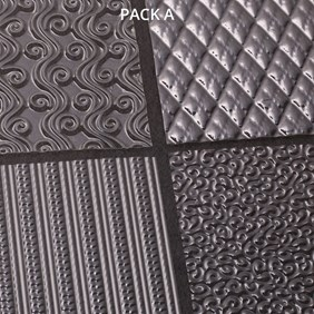Texture Plates for Metal Clay, Pack of 4